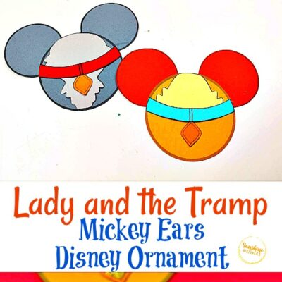 Lady and the Tramp Mickey Ears Disney Ornament Craft