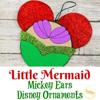 Little Mermaid Mickey Ears Disney Ornament