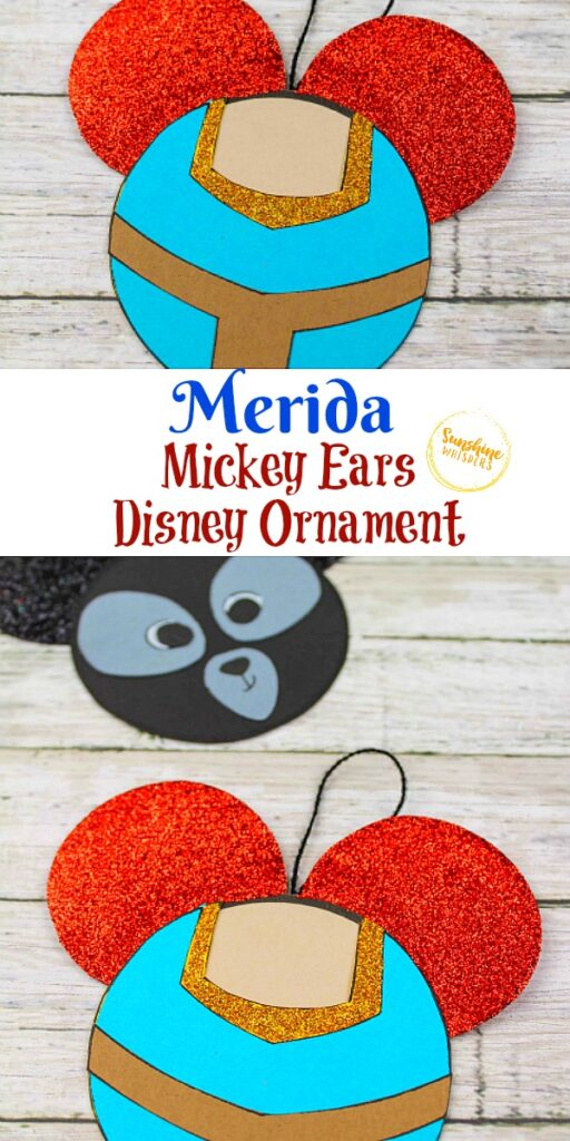 Merida Mickey Ears Disney Ornament craft