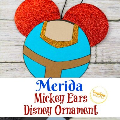 Merida Mickey Ears Disney Ornament Craft