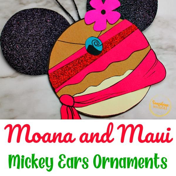 Moana Mickey Ears Disney Ornament Craft