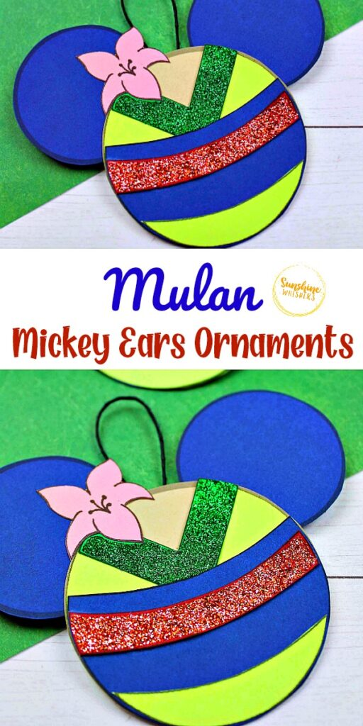 Mulan Mickey Ears Ornament
