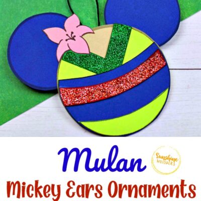 Mulan Mickey Ears Disney Ornament Craft