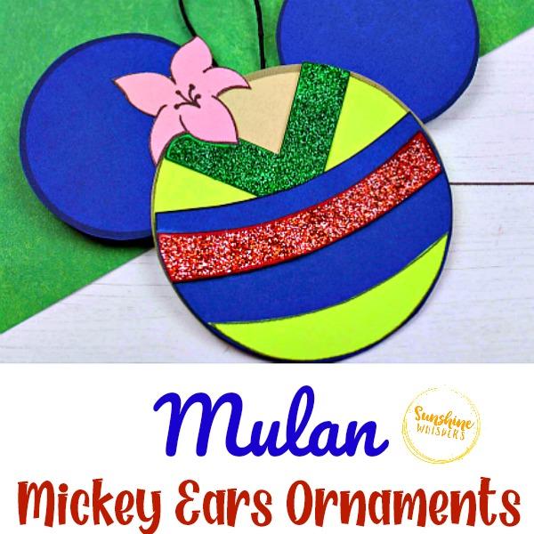 Mulan Mickey Ears Ornament