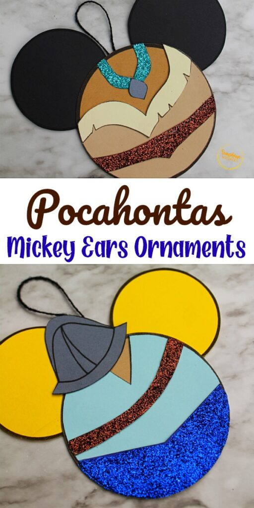 Pocahontas Mickey Ears Ornament Craft