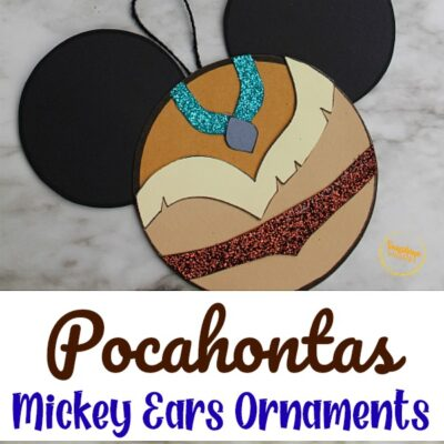 Pocahontas Mickey Ears Disney Ornament Craft