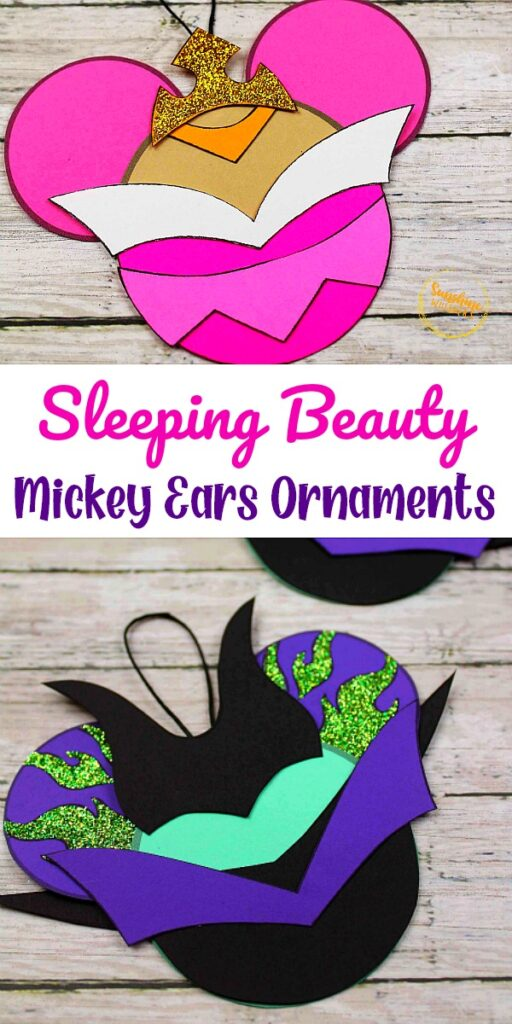 Sleeping Beauty Mickey Ears Disney Ornament