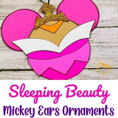 Sleeping Beauty Mickey Ears Disney Ornament