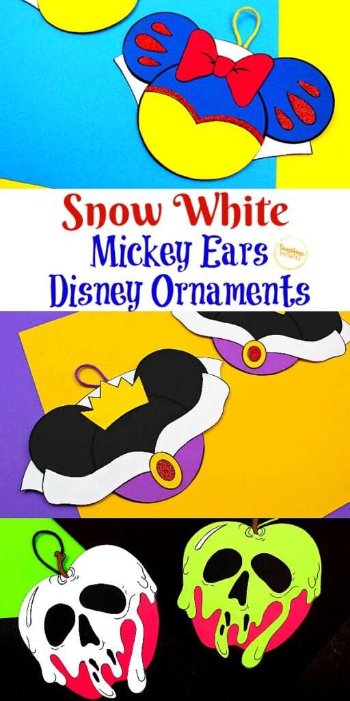 Snow White Mickey Ears Ornament Crafts