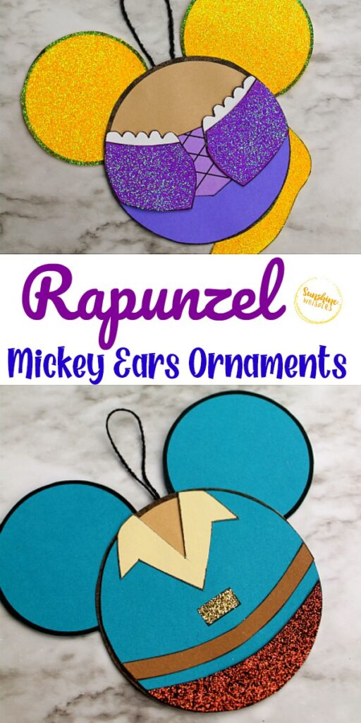 Rapunzel Mickey Ears Ornament Craft