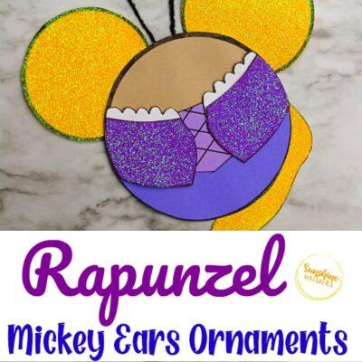 Rapunzel Mickey Ears Disney Ornament Craft