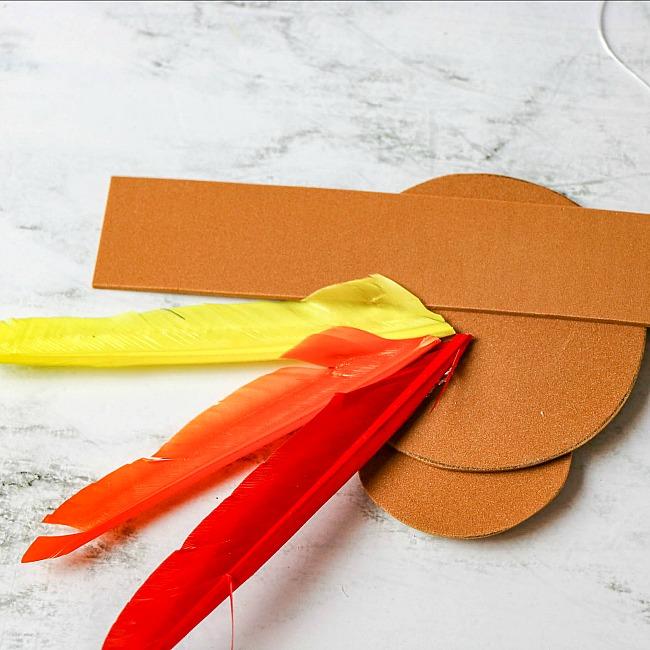 Turkey hat craft for kids