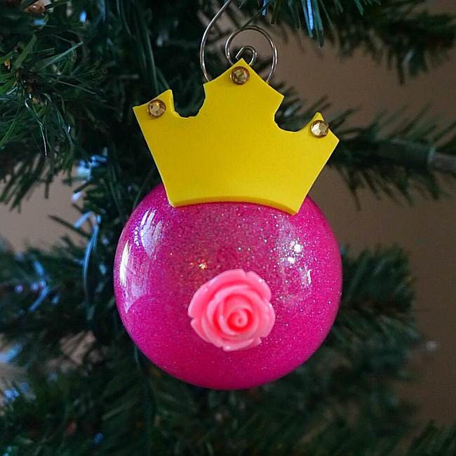 sleeping beauty christmas ornament