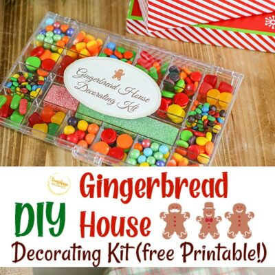 Super Easy DIY Gingerbread House Decorating Kit! (FREE Printable)
