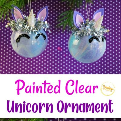 Clear Painted Unicorn Ornament Craft