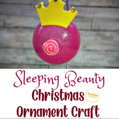 Sleeping Beauty Christmas Ornament Craft