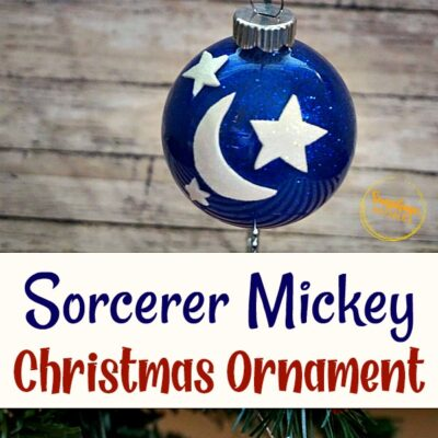 Sorcerer Mickey Christmas Ornament Craft