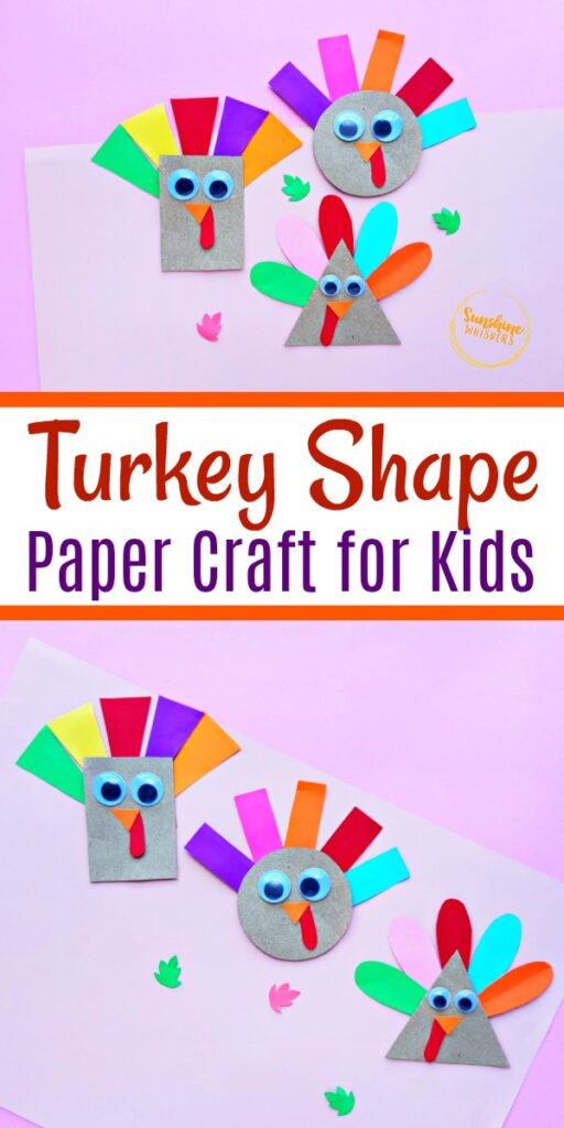 Turkey shape paper craft for kids