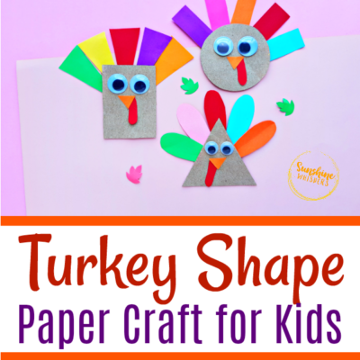 Shape Turkey Paper Craft For Kids