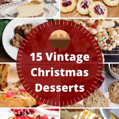 Vintage Christmas Desserts To Recreate the Nostalgia of Christmas Past