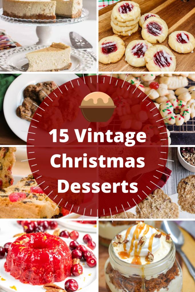 vintage Christmas desserts