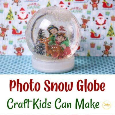 Photo Snow Globe Craft Kids Can Make