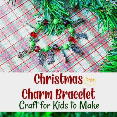 Christmas Charm Bracelet Craft For Kids To Make