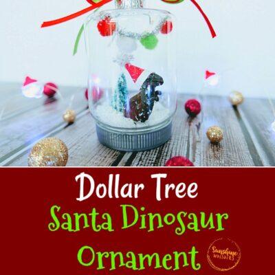 Dollar Tree Santa Dinosaur OrnamentCraft