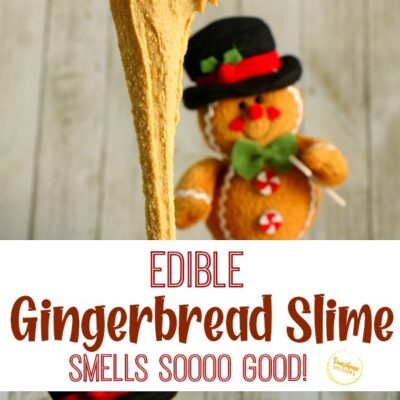 Edible Gingerbread Slime- Smells Amazing!