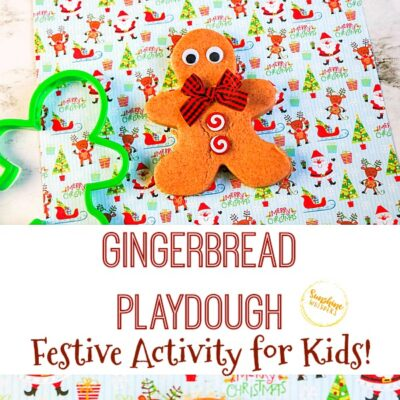 Gingerbread Playdough Activity For Kids
