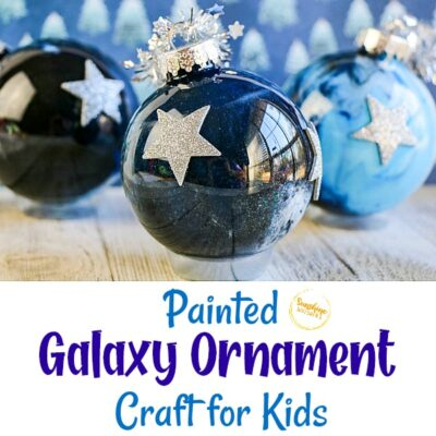 Clear Painted Galaxy Ornament Craft
