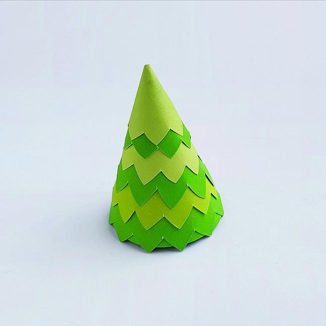 paper cone christmas tree craft