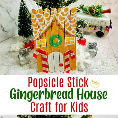 Popsicle Stick Gingerbread House Craft For Kids