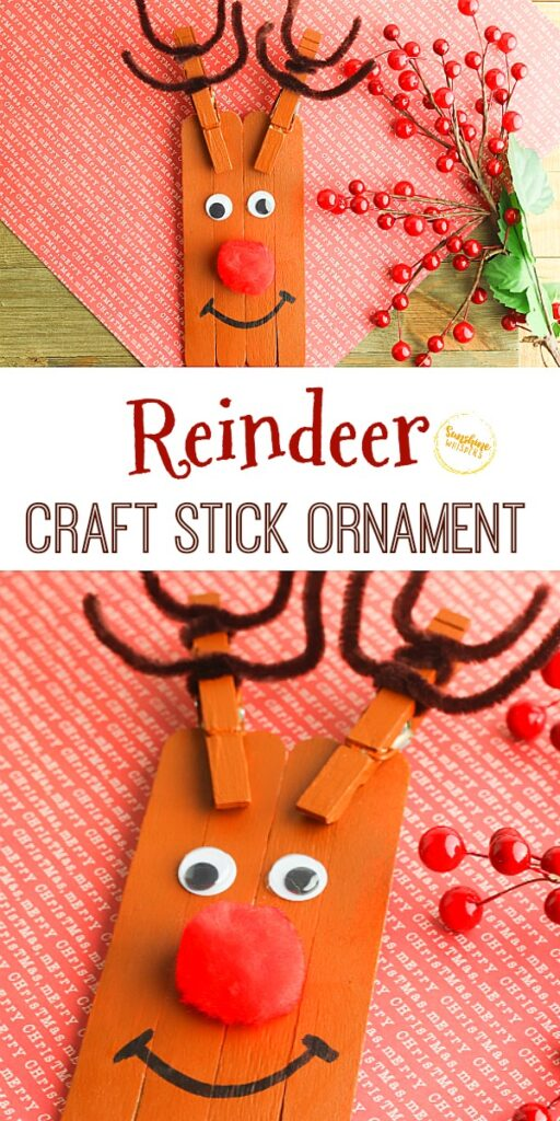 reindeer craft stick ornament craft