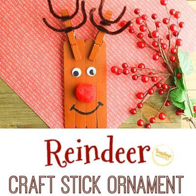 Reindeer Craft Stick Ornament Craft For Kids