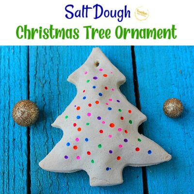 Salt Dough Christmas Tree Ornament Craft For Kids