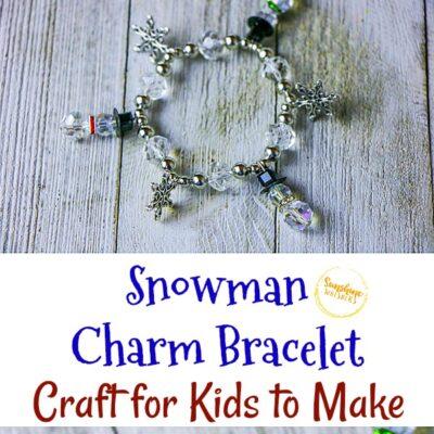 Snowman Charm Bracelet Craft For Kids To Make
