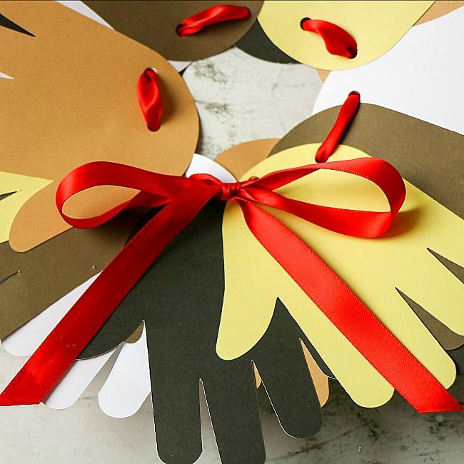 Martin Luther King Jr handprint paper plate wreath craft