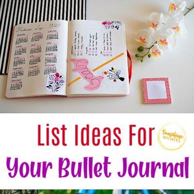 List Ideas For Your Bullet Journal