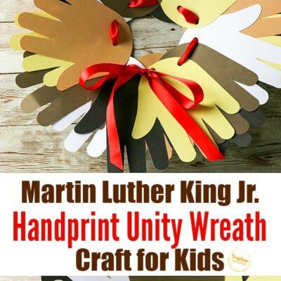martin luther king jr handprint unity wreath craft