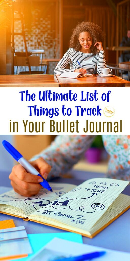 ultimate list of things to track in your bullet journal