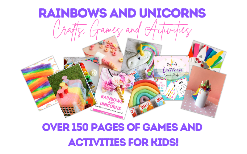 rainbows and unicorns activity book