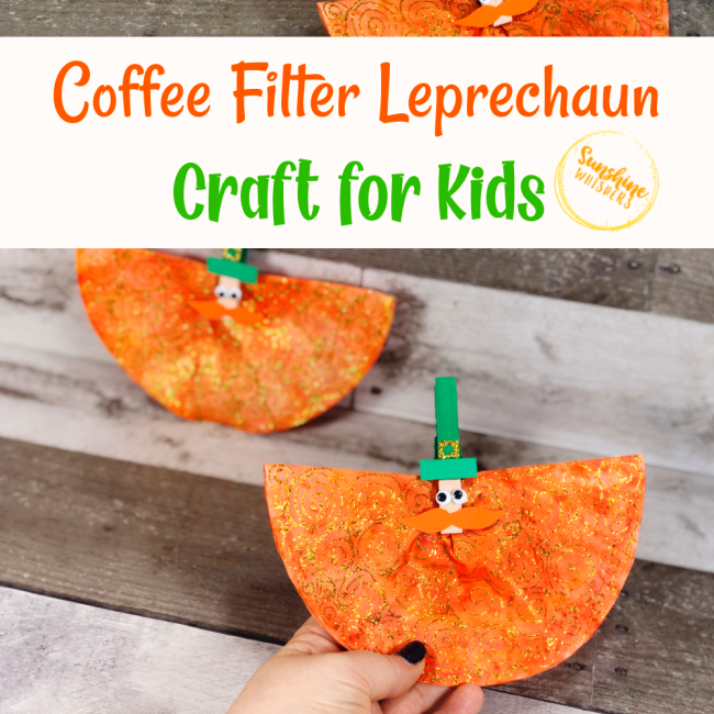 Coffee Filter Leprechaun Craft