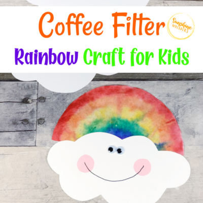 Dollar Store Coffee Filter Rainbow Craft For Kids