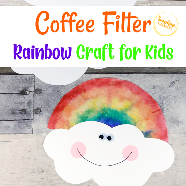 dollar store coffee filter rainbow