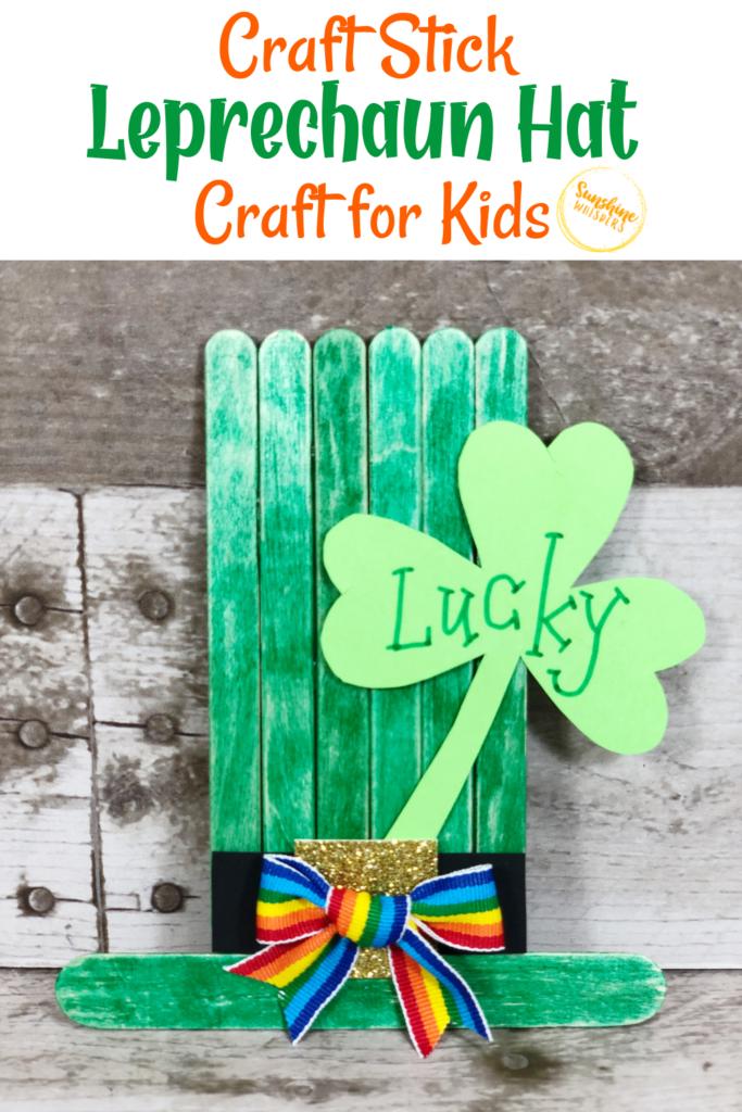craft stick leprechaun hat craft