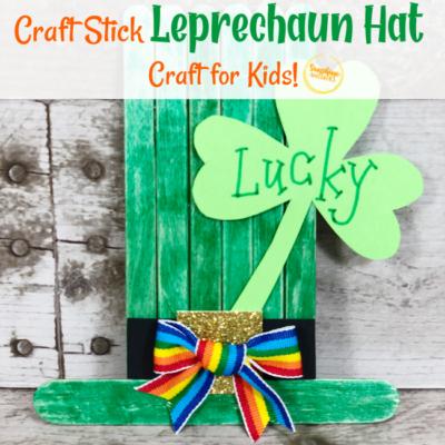 Dollar Store Craft Stick Leprechaun Hat Craft For Kids