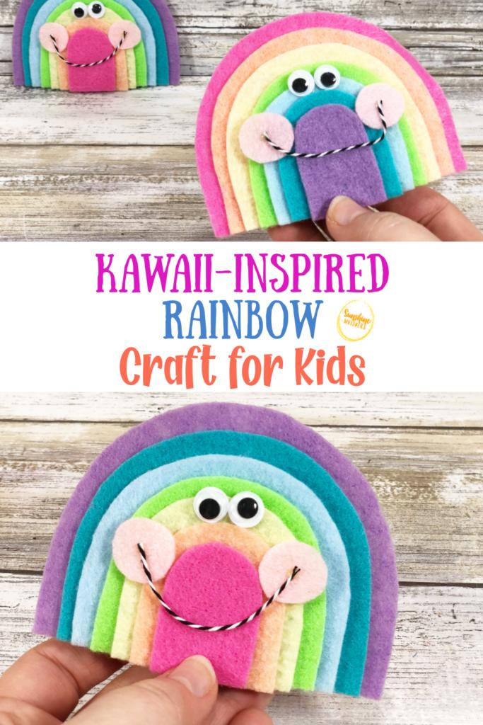 kawaii-inspired rainbow craft