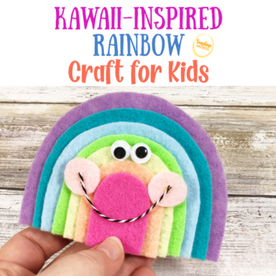 kawaii-inspired rainbow craft