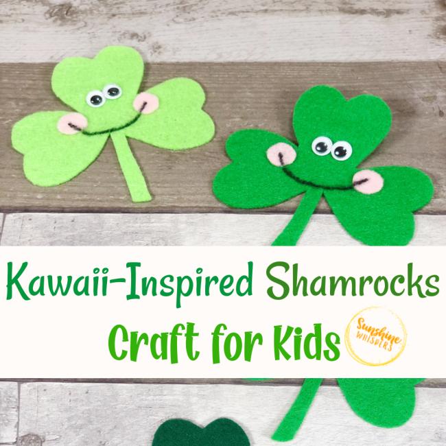 kawaii inspired shamrocks craft